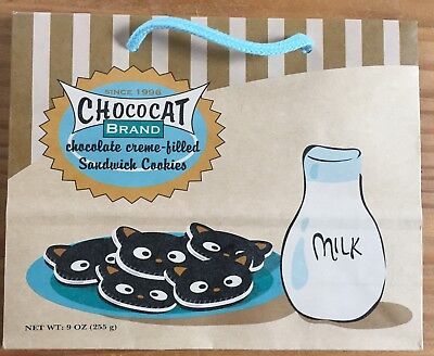 Sanrio CHOCOCAT Milk and Cookies Small Paper Shopping Bag Dated 2003