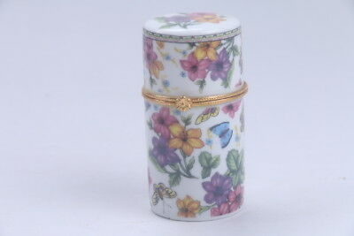 exquisite Chinese painting flowers porcelain Toothpick box  bb533