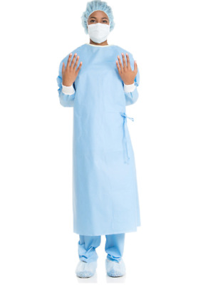Case Of 30 Halyard 95121 02 Ultra Xl Surgical Gown W/ Polypropylene Fabric