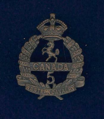 5th (Western Canadian Cavalry) Bn, CEF-cap badge- superior strike and finish