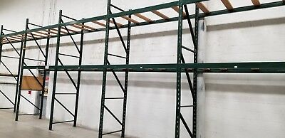 "Ridge U Rack  Pallet Racking 168"" x 44"" x 90' Green or Gray One Section"