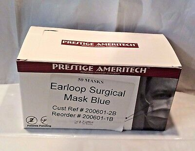 50 Pc Ear Loop Face Mask Surgical Dental Medical Anti Dust Disposable Latex Free