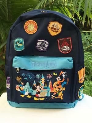 Disneyland Backpack with Mickey & Friends & Attraction Patches (Embroidered)