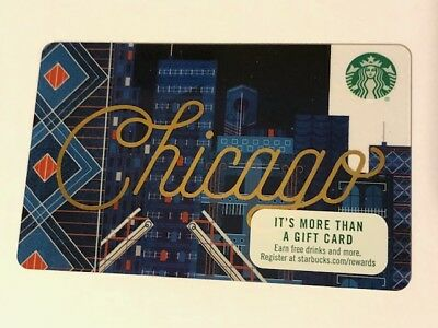 Starbucks Card 2017 Chicago - Limited NEW Unused MINT
