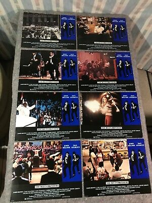 "THE BLUES BROTHERS 1980 ORIG. LOBBY CARD SET 11""x14"" (VF) BELUSHI/AYKROYD/FISHER"