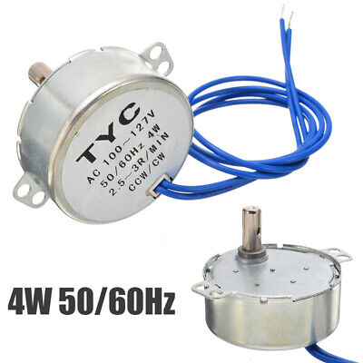 AC 100-127V 4W CCW/CW Direction 50/60Hz 2.5-3 RPM Electric Synchronous Motor USA