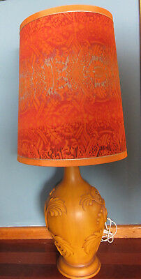 Xl Mid Century 1960S Ceramic Floor Or Table Lamp With Shade - Braemore Haeger