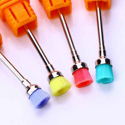 Electric Nail Art Drill Cleaning Brush Manicure Polishing Tips Random Color Tool