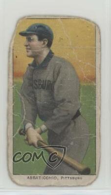 1909 1909-11 T206 Piedmont 150 Back #EDAB Ed Abbaticchio Pittsburgh Pirates Card
