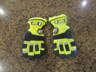 Ringers Gloves 911 Rescue Firefighter Extrication Emergency XL 11 Barrier 1 vis