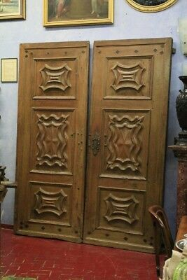 Door Baroque Piedmont, Period '600, Nut / Door Antique / Door Baroque