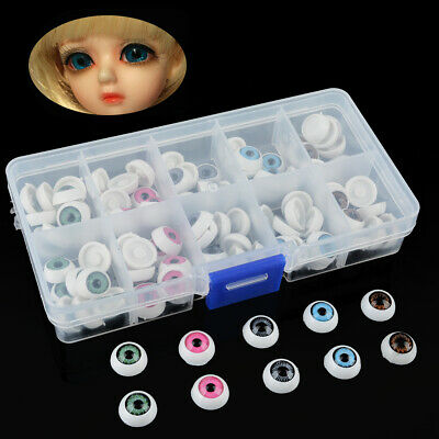 100pcs 12mm 5 Colors Plastic Safety Eyes For Teddy Bear Doll Animal Craft DIY US