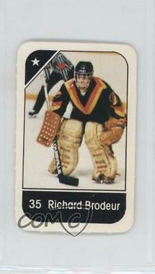 bad4a49fe 1982-83 Post Cereal  35.2 Richard Brodeur Vancouver Canucks Hockey Card