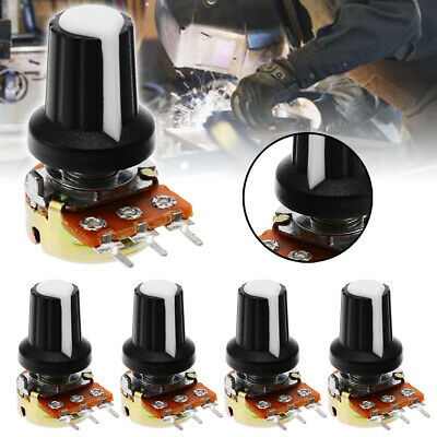 1 Set 5Pcs 10K OHM Linear Mono Stereo Pot Rotary Resistor Potentiometer & Knobs