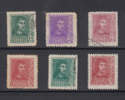 Spain (1938) Series Full Used - Edifil 841/44A Fernando The Catholic