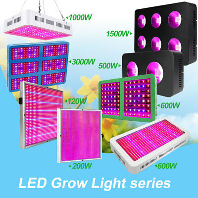 1/2/4tlg 500W-3000W COB LED Grow Light Pflanzenlampe Vollspektrum Wachsen Licht