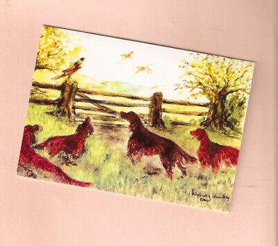 Irish Setter Christmas Cards Look  Pack of 10 Art of Wendy Hamby