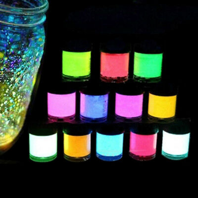12 Color Luminous  Paint Pigment Glow Powder Luminescent Party Makeup 10ml