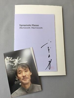 MASAO YAMAMOTO  山本昌男  in-person 2018 signed limited art catalog 7x10.2 + proof