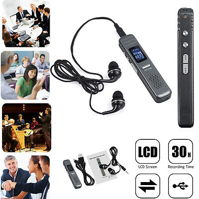 NEW 8GB MIC Mini Digital Sound Audio Voice Activated Recorder Spy Dictaphone MP3