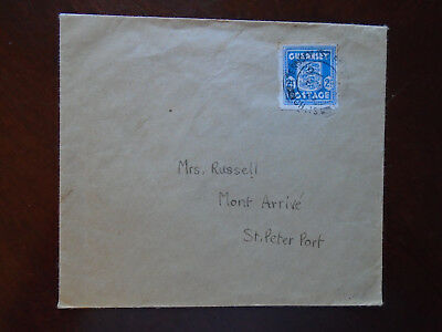 Guernsey WWII 1944 German occupation cover - 21/2d Arms