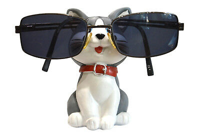 Cute Grey Cat Glasses Holder / Sunglasses / Reading Glasses