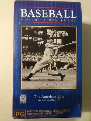 Baseball - A Film By Ken Burns - ABC - VHS Video - Rare- 3 tapes over 8 hours