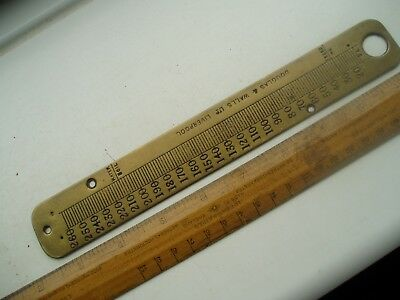 Old Brass Thermometer Face