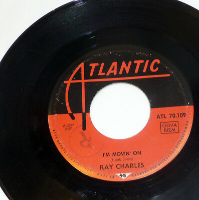 "RAY CHARLES ""I'm Movin' On"" 1963 rare german ATLANTIC 60s SOUL 7"" 45 Vinyl 70109"