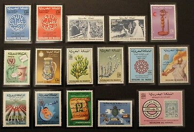 Stamp MOROCCO / MOROCCO Stamp - 16 stamps de 1987 n (Cyn26)