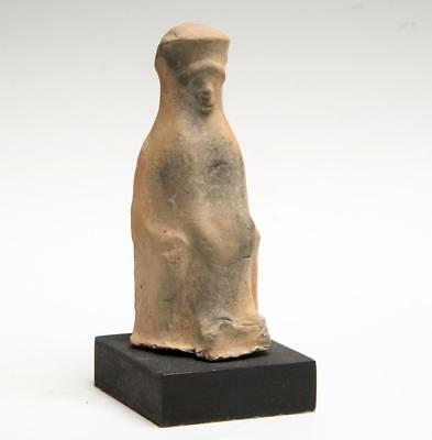 Greek enthroned female statuette: Circa 6th century BC.