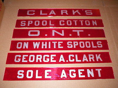 Clarks 6 Drawer Spool Cabinet NEW Glass Name Plates, like originals, 16""