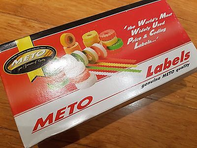 """Meto 26mm x 12mm """"BEST BEFORE"""" White Adhesive Pricing Labels 20x rolls #6708953"""