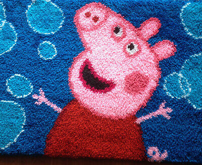 Latch hook rug kit 'Peppa Pig' (50x65 cm)
