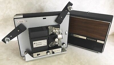 Vintage BELL & HOWELL AUTOLOAD Projector 1 Inch Lens W/ Slow Motion