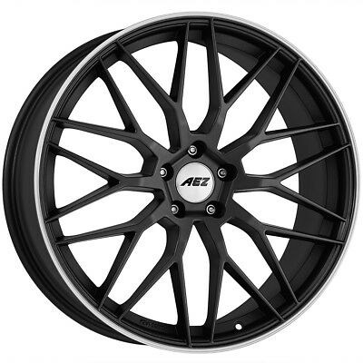 18 Inch Aez Crest Dark 5x114 3 Et48 8j Black Alloy Wheels Acura Cl