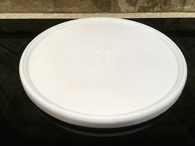 "Vintage Rubbermaid White Lazy Susan Turntables 10 3/8"" Spices Storage"