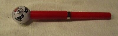 Floating bobble head style vintage ink pen Red Plastic Case Dog Head Ball