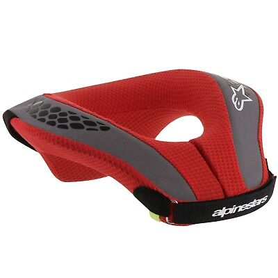 Alpinestars Sequence Youth Hals Rolle Schwarz Rot Kinder Motocross Motorrad MTB