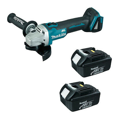 MAKITA 18V LXT DGA454 DGA454Z DGA454RFE ANGLE GRINDER AND 2 x BL1830 BATTERIES