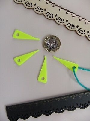 """4 Tatting Picot Mini Hooks *NEW* for Making Lace made in ECO in Yellow """"Rare"""" !"""