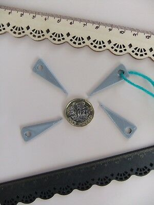 """4 Tatting Picot Mini Hooks *NEW* for Making Lace made in ECO in Silver """"Rare"""" !"""
