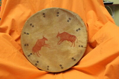 Kiowa -  Comanche Native American Indian Handmade Rawhide Drum