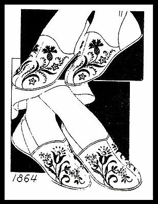 Unique SLIPPER Fabric Sewing Pattern Mail Order # 1864 COZY Embroidered S-M-L