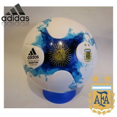 adidas Size 5 Football Match Ball Replica Soccer Training White Argentina NEW