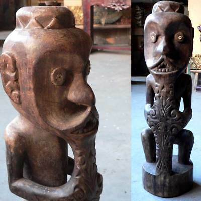 Dayak ANCESTOR STATUE sculpture Indonesia Borneo Tribal Art