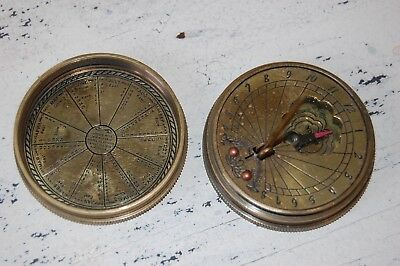 Vintage Brass Sundial or Compass - Small