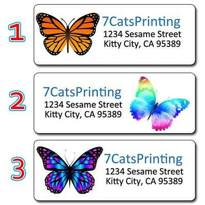 30 Personalized Return Address Labels Colorful Butterflies Monarch Butterfly