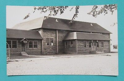 Greybull Community Building & Library Wyoming RPPC Real Photo