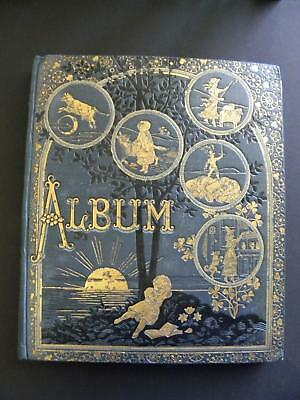 1800's VICTORIAN SCRAPBOOK ALBUM*TRADE CARDS*CHRISTMAS*DIE CUTS*LITHOGRAPHS+++++